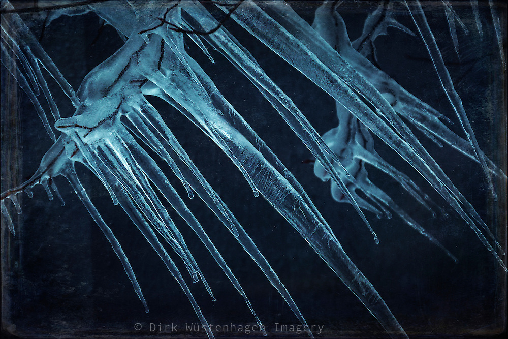 Blue icicles<br /> <br /> http://www.trevillion.com/search/preview/icicles/0_00202102.html