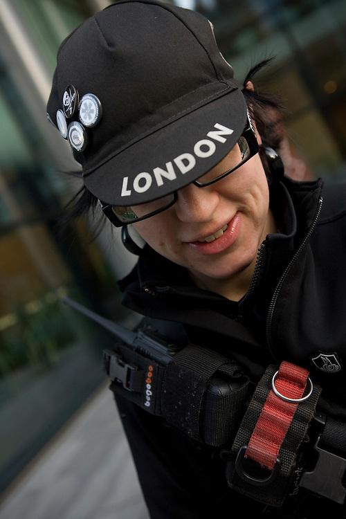 Fixed gear pushbike riders in London