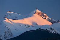 Winter sunset over the Queen Elizabeth Range, Jasper National Park Alberta Canada