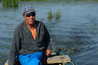 Fisherman and guide Lica Simeon, tourism, Danube delta rewilding area, Romania