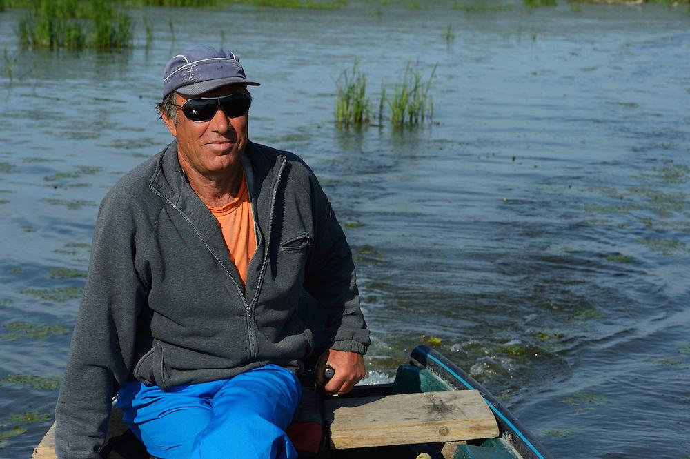 Fisherman and guide Lica Simeon, tourism, Danube delta rewilding area, Romania