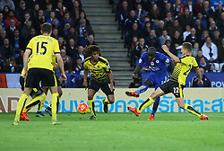 Ngolo Kante of Leicester City (2nd R) scores his sides first goal  - Mandatory byline: Jack Phillips/JMP - 07966386802 - 7/11/2015 - SPORT - FOOTBALL - Leicester - King Power Stadium - Leicester City v Watford - Barclays Premier League