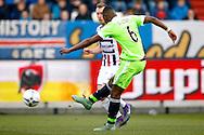 06-03-2016 VOETBAL:WILLEM II-AJAX:TILBURG<br /> Riechedly Bazoer van Ajax haalt uit voor de 0-2<br /> <br /> Foto: Geert van Erven
