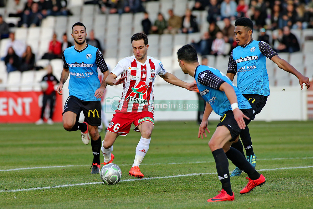 January 27, 2018 - Ajaccio, CORSE, FRANCE - Mathieu COUTADEUR (ACA) vs Haris BELKEBLA  (Credit Image: © Panoramic via ZUMA Press)