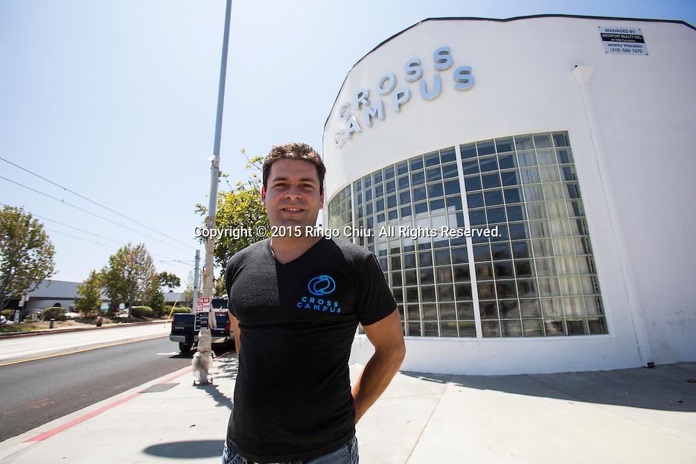 Ronen Olshansky, co-founder of Cross Campus in Santa Monica. Photo by Ringo Chiu/PHOTOFORMULA.com)