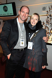 LAWRENCE DALLAGLIO and his wife ALICE at a party to celebrate the launch of the new Fiat 500 car held at the London Eye, Westminster Bridge Road, London on 21st January 2008.<br />