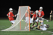 Quaterfinal matchup of the 2012 NCAA Div III Mens Lacrosse Championships, put the Stevenson Mustangs   against Denison Big Red.Quarterfinal matchup of the 2012 NCAA Div III Mens Lacrosse Championships, had the Stevenson Mustangs   go up against Denison Big Red and win 14 -7 moving onto the semi-final round Sunday at Salisbury.Quarterfinal matchup of the 2012 NCAA Div III Mens Lacrosse Championships, had the Stevenson Mustangs   go up against Denison Big Red and win 14 -7 moving onto the semi-final round Sunday at Salisbury.