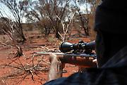 Wongatha Village Elder, Bruce Smith 'goes bush' to hunt for kangaroo and goanna. September 17 2006