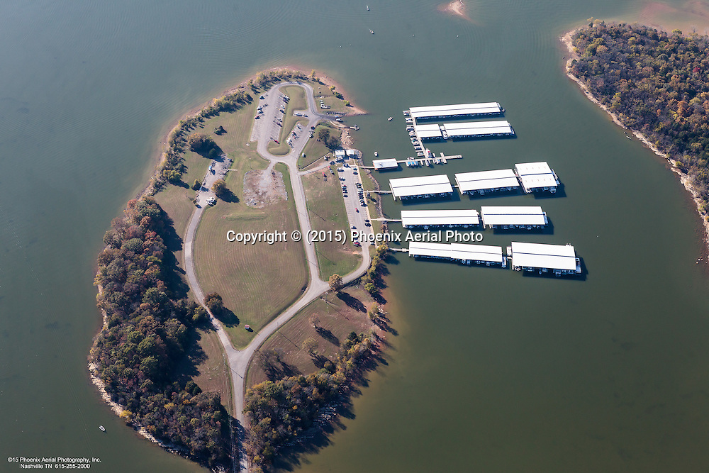 Aerial Photo Of Fate Sanders Marina-Restaurant Located On Percy Priest Lake In Rutherford County Tennessee