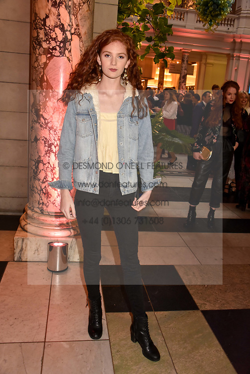 "Lizzie Mawson at the opening of ""Frida Kahlo: Making Her Self Up"" Exhibition at the V&A Museum, London England. 13 June 2018."