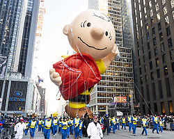 November 22, 2018 - New York, NY, U.S - Charlie Brown balloon at The 2018 Macy's Thanksgiving Day Parade in New York City, New York. (Credit Image: © Michael Brochstein/ZUMA Wire)