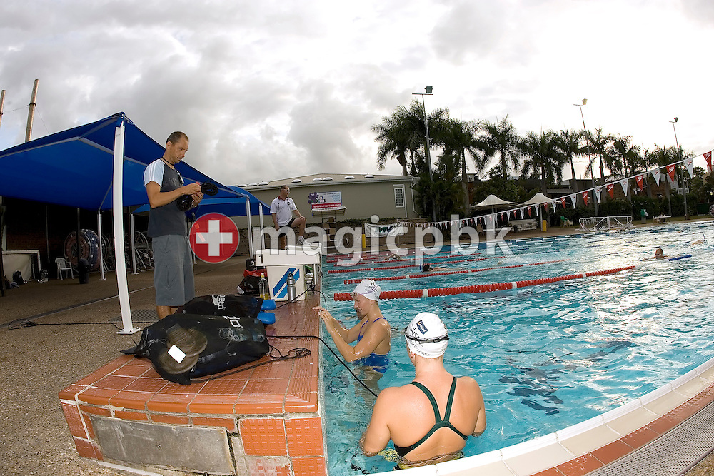 Australian-based coach Stephan Widmer of Switzerland is pictured during a training session in the Valley Swimming Pool in Fortitude Valley, Brisbane, Australia, Monday, March 12, 2007. (Photo by Patrick B. Kraemer / MAGICPBK)