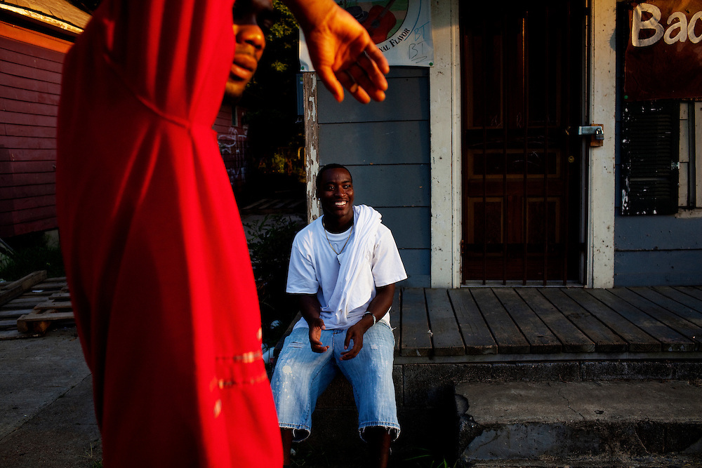 in the Baptist Town neighborhood of Greenwood, Mississippi on Saturday, July 3, 2010.