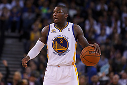 Mar 16, 2012; Oakland, CA, USA; Golden State Warriors point guard Nate Robinson (2) dribbles the ball against the Milwaukee Bucks during the fourth quarter at Oracle Arena. Milwaukee defeated Golden State 120-98. Mandatory Credit: Jason O. Watson-US PRESSWIRE