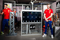 Sergio Rico and De Gea during the opening of the corner of the Spanish team in its new Adidas Store Gran Vía in Madrid. June 05 2016. (ALTERPHOTOS/Borja B.Hojas)