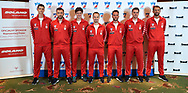 Warsaw, Poland - 2017 December 11: (L-R) Hubert Hurkacz and Michal Przysiezny and Kamil Majchrzak and Radoslaw Szymanik and Pawel Cias and Marcin Matkowski and Lukasz Kubot pose to the team picture while Photo Session of Davis Cup Team of Polish Tennis Association at Regent Hotel on December 11, 2017 in Warsaw, Poland.<br /> <br /> Mandatory credit:<br /> Photo by © Adam Nurkiewicz / Mediasport<br /> <br /> Adam Nurkiewicz declares that he has no rights to the image of people at the photographs of his authorship.<br /> <br /> Picture also available in RAW (NEF) or TIFF format on special request.<br /> <br /> Any editorial, commercial or promotional use requires written permission from the author of image.