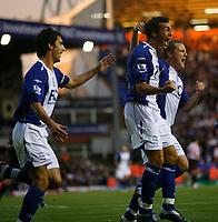 Photo: Steve Bond.<br />Birmingham City v Sunderland. The FA Barclays Premiership. 15/08/2007. Stephen Kelly celebrates for Birmingham
