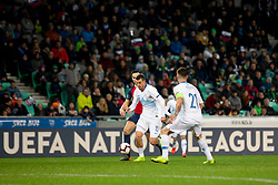 Crnigoj Domen of Slovenia during football match between National Teams of Slovenia and Norway in Final Tournament of UEFA Nations League 2019, on November 16, 2018 in SRC Stozice, Ljubljana, Slovenia. Photo by Urban Urbanc / Sportida