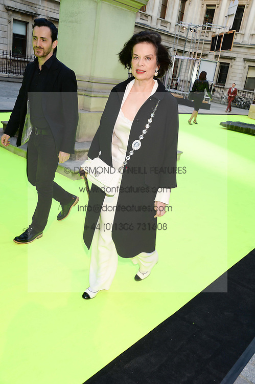 BIANCA JAGGER at the preview party for The Royal Academy Of Arts Summer Exhibition 2013 at Royal Academy of Arts, London on 5th June 2013.