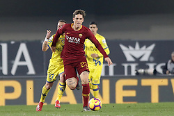 February 8, 2019 - Verona, vr, Italia - Foto Paola Garbuio/LaPresse.08 febbraio 2019 Verona, Italia.sport.calcio.Chievo Verona  vs Roma- Campionato di calcio Serie A TIM 2018/2019 - stadio Bentegodi.Nella foto: zaniolo..Photo Paola Garbuio/LaPresse.february  08, 2019 Verona, Italy.sport.soccer.Chievo Verona  vs Roma  - Italian Football Championship League A TIM 2018/2019 -  stadio Bentegodi..In the pic:zaniolo (Credit Image: © Paola Garbuio/Lapresse via ZUMA Press)