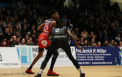 Levi Bradley of Bristol Flyers on the ball - Photo mandatory by-line: Arron Gent/JMP - 07/12/2019 - BASKETBALL - Surrey Sports Park - Guildford, England - Surrey Scorchers v Bristol Flyers - British Basketball League Championship