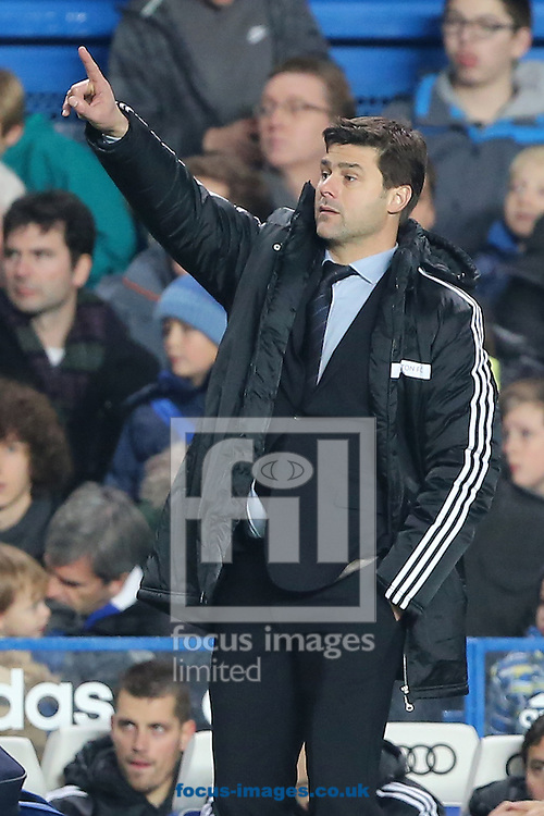 Picture by Richard Calver/Focus Images Ltd +447792 981244<br /> 01/12/2013<br /> Manager of Southampton, Mauricio Pochettino during the Barclays Premier League match against Chelsea at Stamford Bridge, London.
