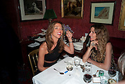 HEATHER KERZNER; ELIANE FATTAL, Dinner hosted by Elizabeth Saltzman for Mario Testino and Kate Moss. Mark's Club. London. 5 June 2010. -DO NOT ARCHIVE-© Copyright Photograph by Dafydd Jones. 248 Clapham Rd. London SW9 0PZ. Tel 0207 820 0771. www.dafjones.com.