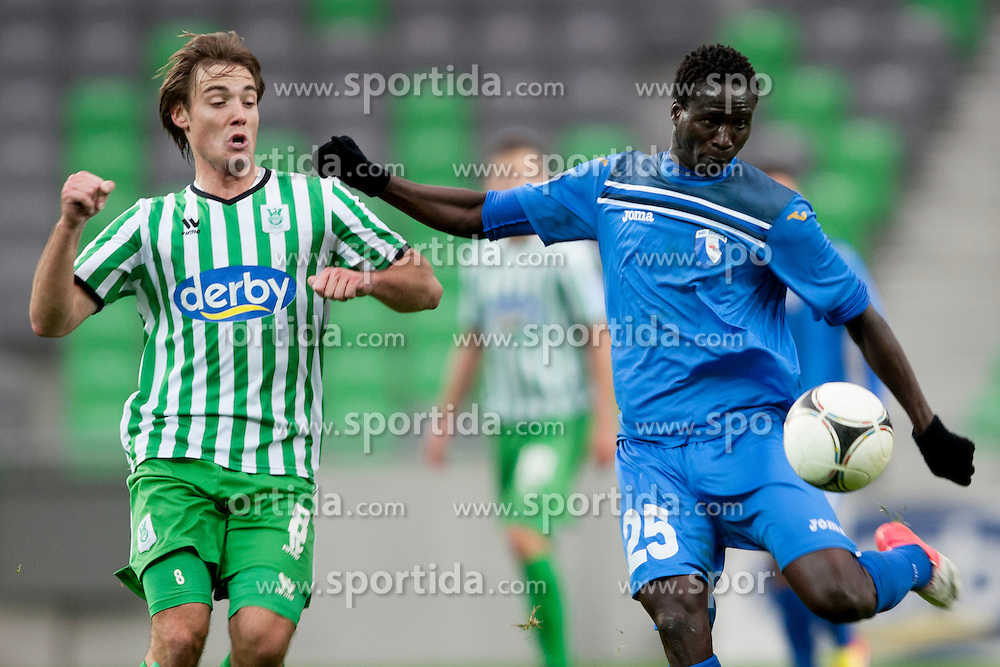 Welle Ndiaye #25 of Gorica during football match between NK Olimpija and ND Gorica in 21st Round of Slovenian First League PrvaLiga NZS 2012/13 on December 1st, 2012 in Arena Stozice, Ljubljana, Slovenia (photo by Urban Urbanc / Sportida.com)
