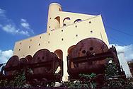 Nederland, Kerkrade, 19930810.  <br /> Mijnschacht met  treinwagons van de machinefabriek Rudolf Kr