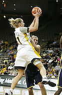 08 February 2007: Iowa forward Krista VandeVenter (51) shoots in Iowa's 66-49 win over Michigan at Carver-Hawkeye Arena in Iowa City, Iowa on February 8, 2007.