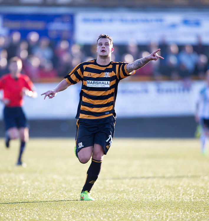 Alloa Athletic's Kyle Benedictus.<br /> Alloa Athletic 0 v 1 Hearts, Scottish Championship played at Recreation Park, Alloa.