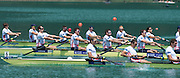 Aiguebelette, FRANCE  Bronze medallist, GBR M8+ left to right, Scott DURANT, Alan SINCLAIR, Nathaniel REILLY-O'DONNELL and  Matt LANGRIDGE.  at the 2014 FISA World Cup II. 14:23:46  Sunday  22/06/2014. [Mandatory Credit; Peter Spurrier/Intersport-images]