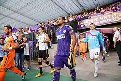 Nektarios Alexandrou of Apoel and Marcos Tavares #9 of Maribor during football match between NK Maribor and APOEL FC, (Cyprus) in Third qualifying round, Second leg of UEFA Champions League 2014, on August 6, 2013 in Stadium Ljudski vrt, Maribor, Slovenia. (Photo by Vid Ponikvar / Sportida.com)