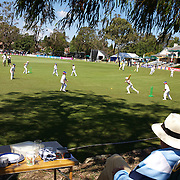Young children play cricket after  India and Pakistan competed in the first match of group B of the ICC Women's World Cup Cricket  at the picturesque setting of Bradman Oval, Bowral in the New South Wales Southern Highlands, Australia on March 7, 2009. Pakistan were bowled out for 57 while Indian won the match reaching 58 without loss. Photo Tim Clayton