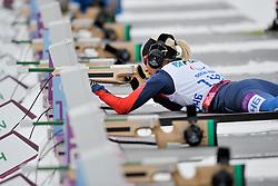 LYSOVA Mikhalina Guide:  IVANOVA Alexey, Biathlon at the 2014 Sochi Winter Paralympic Games, Russia