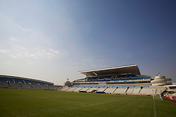 Nicosia, Cyprus - Friday, October 12, 2007: A general view of the new GPS Stadium ahead of the UEFA Euro 2008 Qualifying match between Wales and Cyprus in Nicosia. (Photo by David Rawcliffe/Propaganda)