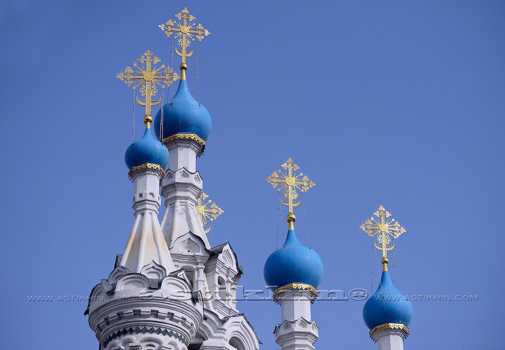 Orthodox Temple Golden Crosses.