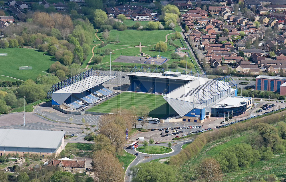 © under license to London News Pictures.  07/04/2011. An aerial view of the Kassam Stadium, home of Oxford United Football Club. Named after the ground's owner, and former chairman of the club, Firoz Kassam.