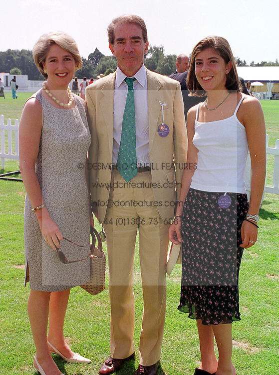 Left to right, the EARL & COUNTESS ALEXANDER OF TUNIS and their daughter LADY ROSE ALEXANDER, at a polo match in Berkshire on 25th July 1999.MUM 184