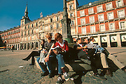 SPAIN, MADRID, MONUMENTS Plaza Mayor; Panaderia façade