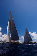 Lionheart , J Class, sailing in the St. Barth's Bucket Regatta, day one.
