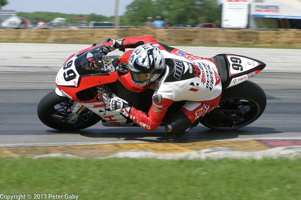 AMA Pro National Guard SuperBike Race 1 during the 2013 Subway SuperBike Doubleheader held at  Road America,  Elkhart Lake,  WI. on June 1, 2013.