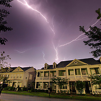 Lightning crawls across the sky Monday night above the Dunes West area of Mount Pleasant. (ANDREW KNAPP/KNAPP)