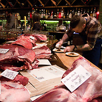 Cuts of venison remained front and center as the staff of Bar Cento worked on preparing a five-course venison tasting.