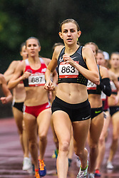 Mary Cain of Nike Oregon Projects battles to third place in womens 1500 in 4:13.16, not enough for the Olympic Trials qualifying timeCain, Mary Nike Oregon Project Women's 1,500m  Run