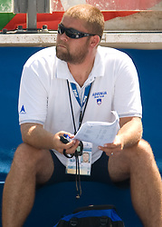 Coach of Slovenia Miha Potocnik during the Women's 800m Freestyle Heats during the 13th FINA World Championships Roma 2009, on July 31, 2009, at the Stadio del Nuoto,  in Foro Italico, Rome, Italy. (Photo by Vid Ponikvar / Sportida)