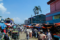 Indonesia, Java, Bogor. A busy market in the center of Bogor.