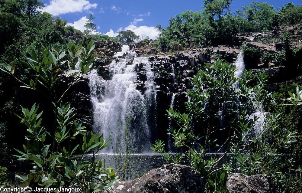 Poco Encantado (Enchanted Well) waterfall in Chapada dos Veadeiros, Brazilian Highlands, Goias, Brazil
