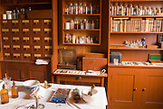 Medicine and instruments in the doctor's office, Fort Vancouver National Historic Site, Vancouver, Washington