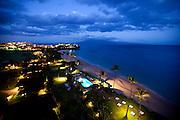 Twilight, Kaanapali Beach, Maui, Hawaii